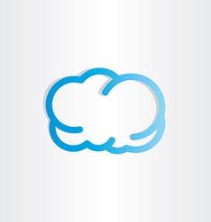 blue cloud icon design vector image