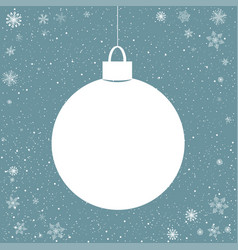Blue snowy background with paper ball vector