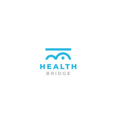 Bridge health care medical life logo design vector