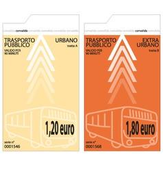 Bus tickets vector