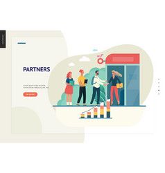 business series - partners web template vector image