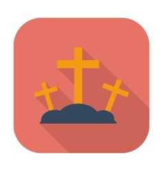 Calvary single icon vector image