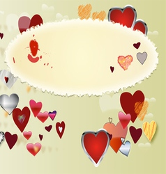 Card by St Valentine s Day2 vector image