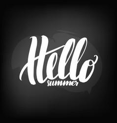 chalkboard blackboard lettering hello summer vector image