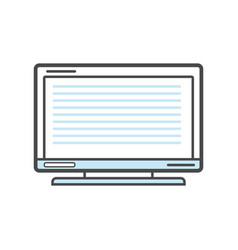 Computer monitor isolated linear icon vector