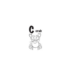 crab coloring page vector image