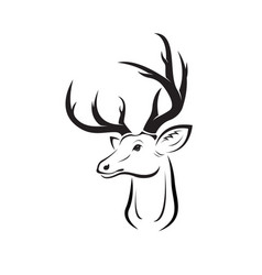 deer head design on white background easy vector image