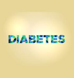 Diabetes concept colorful word art vector