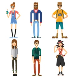 Different characters of people vector