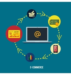 E-commerce infographic concept purchasing vector