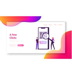 e-wallet cashless payment technology website vector image