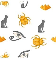 Egyptian symbols pattern cartoon style vector