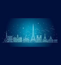 france skyline with panorama vector image