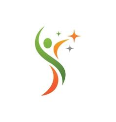 Fun people healthy life icon logo template vector