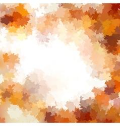 Group autumn orange leaves EPS 10 vector