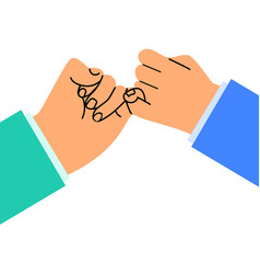 hand business promise flat design vector image