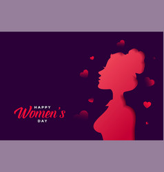 happy womens day banner with beautiful colors vector image