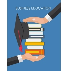 Helping Hand Business Education Concept Trends vector