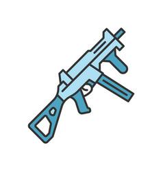 Hk ump weapon color icon virtual video game vector