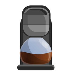 home coffee maker icon cartoon style vector image
