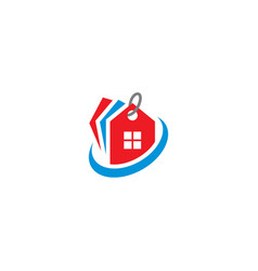 house realty label logo vector image