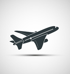 Icons aircraft vector