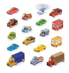 Isometric vehicles vector image