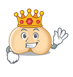 King chickpeas mascot cartoon style vector