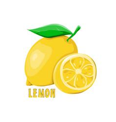 logo icon design lemon farm vector image