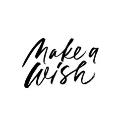 make a wish phrase modern brush calligraphy vector image