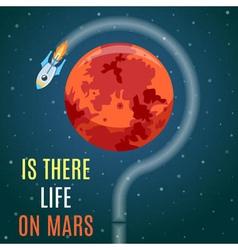 Mars Flat Design Concept vector