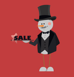 merry christmas sale black friday banner poster vector image