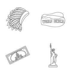 Mohavk world cinema dollar a statue of liberty vector
