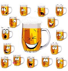 Mug fresh beer cartoon vector