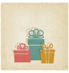 Old background with presents vector
