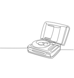 one single line drawing retro old classic vector image