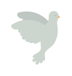 pigeon peace flying in side view on colorful vector image