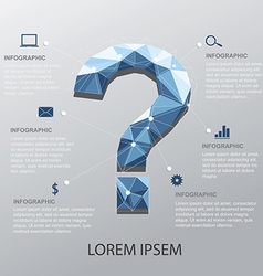 Question infographic vector