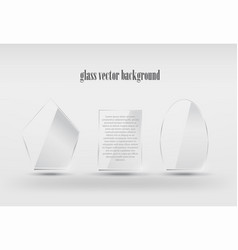 realistic transparent glass shapes vector image