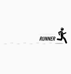 runner runs and training in a outdoor running vector image