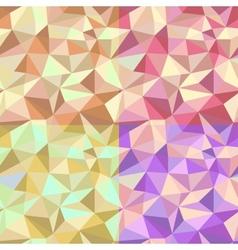 Set of four abstract seamless pattern vector image