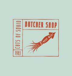 stock squid cuts diagram vector image