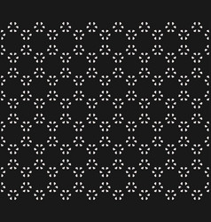 Subtle geometric seamless pattern with small leafs vector
