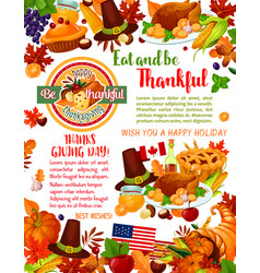 thanksgiving day holiday greeting banner template vector image