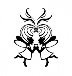 two symmetric fairies vector image