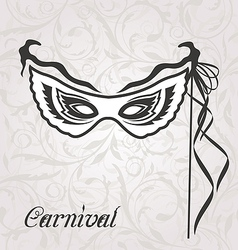 Venetian carnival or theater mask with ribbons vector image