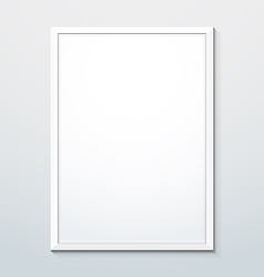 Vertical white frame mockup vector