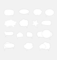 white blank retro speech bubbles set on white vector image