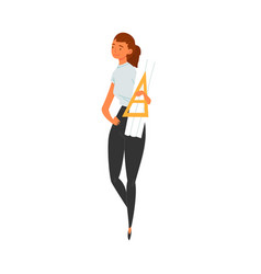 woman architect character female professional vector image