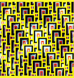 yellow bright geometric pattern vector image